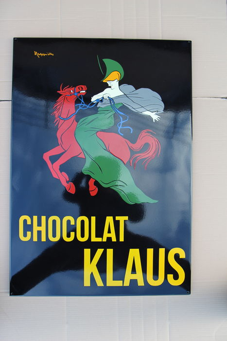 Enamel Chocolat Klaus - 2015 - design by Cappiello (1875-1942)