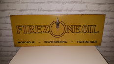 Engine oil: Firezone - ca 1950s/60s