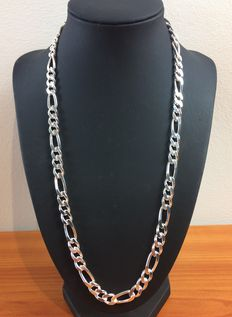 Silver Figaro necklace, .925