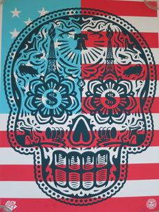 Shepard Fairey (OBEY) and Ernesto Yerena - Power and glory 'Merica