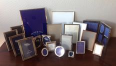 19 primarily silvered photo frames