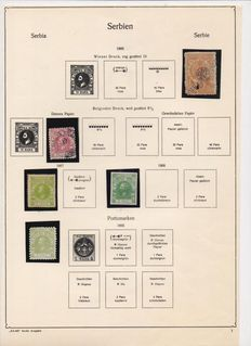 Serbia - Collection from 1866 to 1942, mounted on Ka-be album.