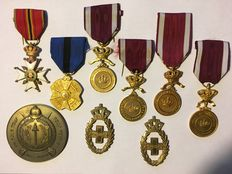 9 Belgian medals and awards-9 pieces!