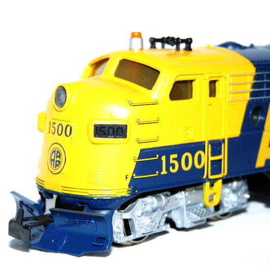 Märklin H0 - 3462 - Three part Diesel locomotive USA Type EMD F7 of the Alaska Railroad