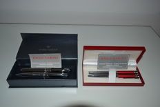 2 Enzo Varini Sets- Fountain Pens and Rollerball Pens- In their cases