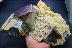 Large Topaz Specimen with Albite & Smokey Quartz - Pakistan - 330 x 225 x 100 mm - 5.3kg