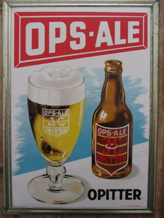 Advertising sign 'Cellulit-cadre' - Ops-Ale beer - 1953.