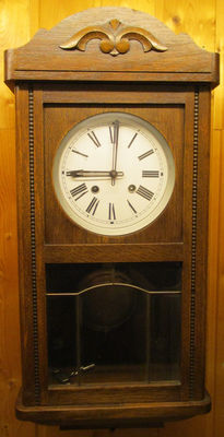 Old regulator/wall clock – around 1960