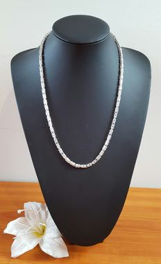 Silver Byzantine link necklace, 925k