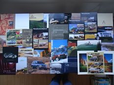 1980 - 2010 - JEEP Cherokee, Wrangler, Grand Cherokee, Wagoneer, Trucks, etc etc - Mixed lot of 34 original sales & historical brochures