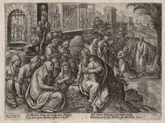 Philips Galle (1537-1612)  - St.  Peter and the women of Philippi.