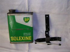 BP solexine petrol can with holder - for solex - 1950's/1960's