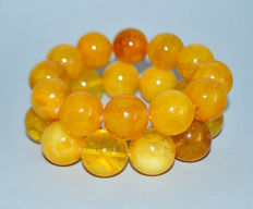 100% natural Two Baltic amber bracelets butterscotch egg yolk amber