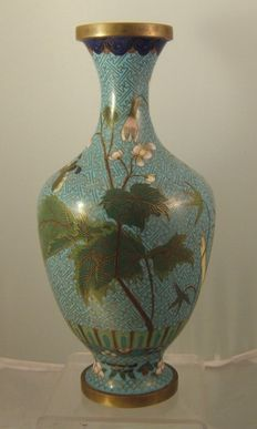 Cloisonne vase - China - first half 20th century