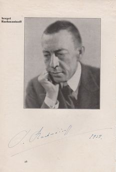 Autographs; Album with over 30 famous classical music composers – 1930's to 1960's