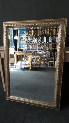 Large mirror with facet - Silver - Large ornamental frame