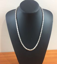 Silver king's braid link necklace, 925 kt