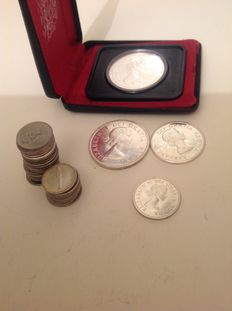 Canada - 10 Cents up to and including Dollar 1938/1975 (43 pieces) including silver