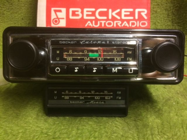 becker monza oldtimer radio met chroom front en becker. Black Bedroom Furniture Sets. Home Design Ideas
