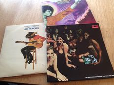 Jimi Hendrix  - Lot of 3 albums ( 6 Lp's )-Electric Ladyland / Band of Gypsy's- The Cry of Love / Soundtrack