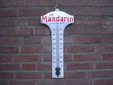 Enamel thermometer - Le Mandarin - 1st half of the 20th century - France
