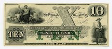 USA - Obsolete Currency - 10 dollars 18XX - remainder - The New England Commercial Bank - Newport, RHODE ISLAND