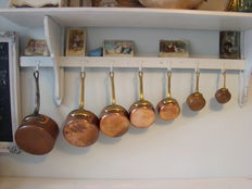 French red copper saucepans