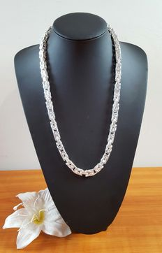 Heavy silver Byzantine necklace 925K