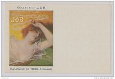 Themed postcard Illustrator D.Hernandez Mucha style original calendar JOB 1898