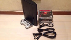 Sony PlayStation 3 Superslim 12GB console - with controller and 10 games