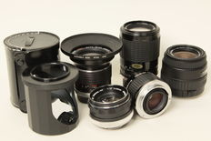 Lot of 5 lenses and an angle mirror