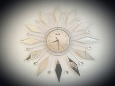 Scheffler-very large exclusive design sun-clock with mirror glass