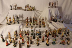 Eighty-one resin Egyptian gods - Second half of the 20th century