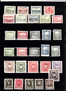 Poland 1918/1945 - Selection on stock cards