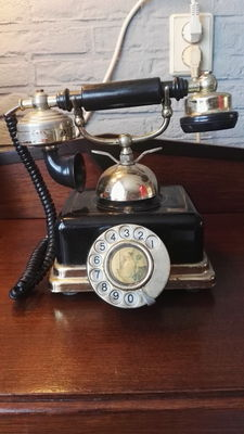 Decorative Antique Telephone - with turntable and hook -England - Around 1960