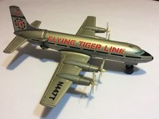 Marx, Japan - Length 36 cm - Tin/plastic battery operated Flying Tiger Line airplane, 1960s