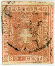 Tuscany – Provisional Government – 80 cents.