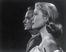 Yousuf Karsh (1908-2002) - Camera Press London -  Prins Rainier en Prinses Grace van Monaco - 1956