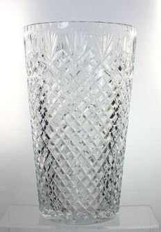 Gorgeous Vintage Cut Crystal Champagne Wine Bottle Cooler Ice Bucket