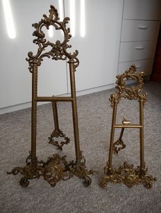 Two French easels-2nd half of 20th century