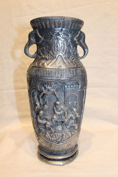 Europe school,turned vase,made of chrome.ca.1960