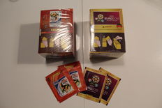 Panini - World Cup 2010 South Africa and Euro 2012 Poland / Ukraine - 2 boxes + 4 extra packets - New in factory seal