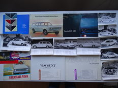 1961 - 1969 - VAUXHALL Cresta, Viscount, Victor, VX 4/90, Viva, Velox, Epic, etc  - mixed lot of 22 sales brochures, factory photos, price lists & colour card