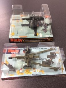 Dinky Toys - Scale 1/32 - U.S. 105 mm Howitzer with Gun Crew No.609 and Static 88 mm Gun with Crew No.662