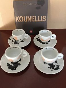 Jannis Kounellis Illy - 4 collectible espresso cups