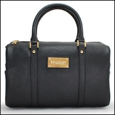 PRODORI Black Luxury Leather Handbag - Bowling