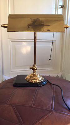 Brass desk lamp - 2nd half of 20th century