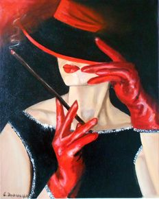 Cecylia Dąbrowska - Black and red