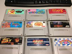 Lot of 20 Super Famicom games, Super Game Boy & 4 Game Boy / Color games