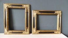 Two gilded baroque painting frames - 30 x 40 cm - 21st century
